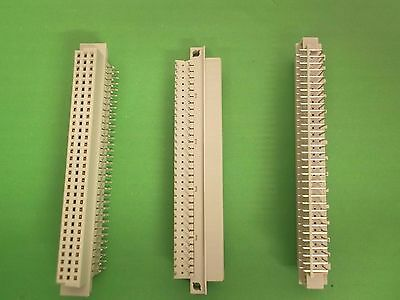 DIN Plug 64 Way Reverse Right Angle DIN41612 Body 3 Rows a+c D364FSRCCE4 x 2pcs