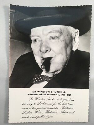 Valentines 'Real Photo' Postcard of Winston Churchill MP 1901 - 1964
