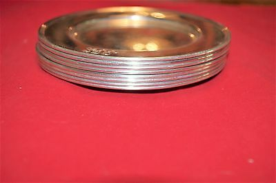 "Set of 8 TIFFANY & CO. SMALL STERLING SILVER 6"" DIAMETER PLATES"