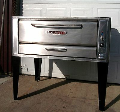 Blodgett 1048 Natural Deck Gas Double Pizza Oven With  New Stones High Btus