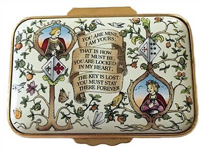 """Halcyon Days Enamel -  """"You are Mine, I am Yours.."""" Medieval German Poem"""