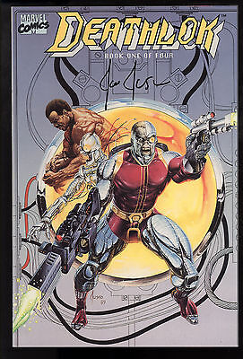 Deathlok (1990) #1 First Printing Signed by Artist Joe Jusko Roxxon Cyborg NM-