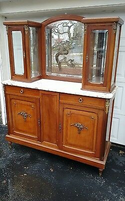 French Sideboard, w/ mirror & 2 display cases