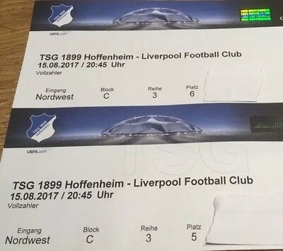 hoffenheim liverpool tickets