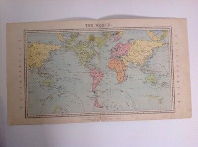 The World 1875 antique map, nelson's original