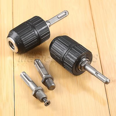 2mm-13mm Capacity 1/2-20 UNF Keyless Drill Chuck Adaptor Driver SDS Plus Shank