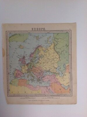 Europe 1875 antique map, nelson's original, Atlas