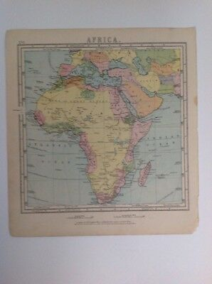 Africa  1875 antique map, nelson's original, Atlas
