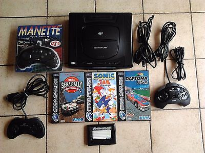 Lot Console Saturn + Jeux + Carte Memoire