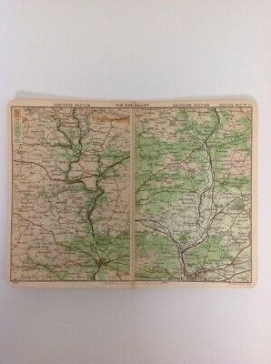South Devon, The Exe Valley,  1915 Antique Map, Bartholomew, Atlas Original