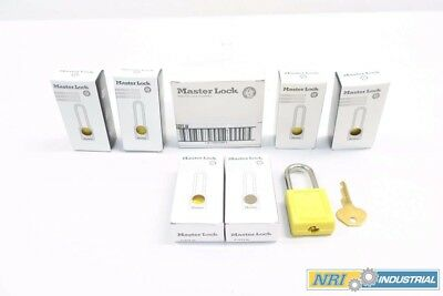 Lot 6 New Master Lock 410Ylw Yellow Safety Padlock D573293