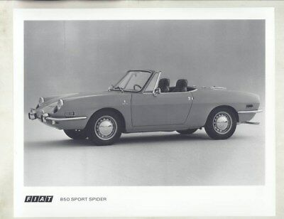 1972 Fiat 850 Spider ORIGINAL Factory Photograph wy3688