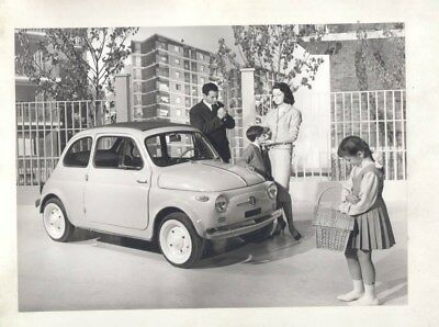 1957 1960 Fiat Nuova 500 ORIGINAL Factory Photograph wy3718