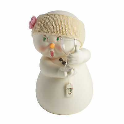 Department 56 H7 Snowpinions Christmas 8.7in Better With Age Snowman Fig 4059009