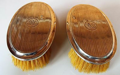 Pair of Antique Georgian V  Silver-backed clothes brush - Birmingham 1918/19