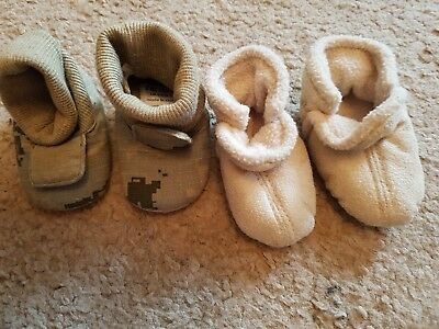 2 pairs of baby boy size 0 sock shoes