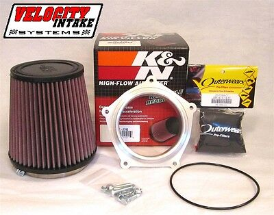 Yamaha YFZ450 YFZ450R Billit Airbox Adapter with K&N Air Filter & Outerwears YFZ