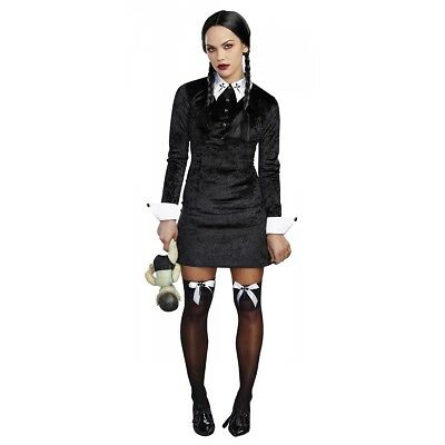 Wednesday Addams Costume Adult Halloween Fancy Dress