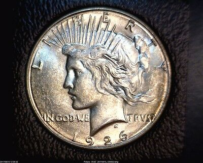 1926-S Peace Silver Dollar In Brilliant Uncirculated