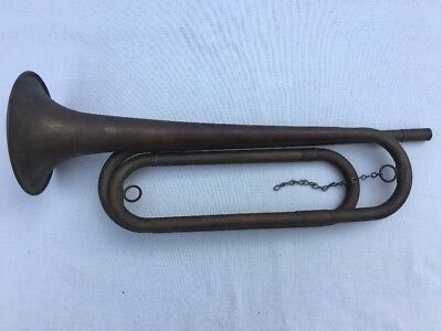 Antique Old Vintage US Regulation Field Brass Trumpet Bugle Boy Scouts Made USA
