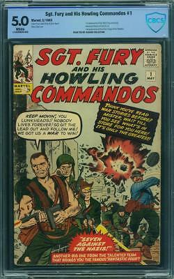 Sgt. Fury #1 CBCS 5.0 1963 1st Nick Fury! Key Silver White Pages! Like CGC G7 cm