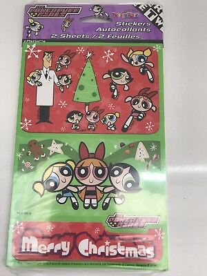 Powerpuff Girls  1 Pack Of Stickers 2 Sheets Total Christmas Holiday