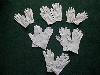 6 Pairs Vintage French White Childrens GLOVES First Communion??