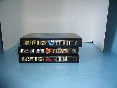 Lot Of 3 Hb Children's Ya * James Patterson Witch & Wizard*the Gift*the Fire