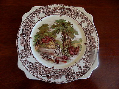 Staffordshire Bowl 'Jenny Lind' +-Clarice Cliff 'Rural Scenes' Plate