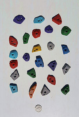 Rock Climbing Holds, New, Mega Set 24 Screw-On, Made By X-Es Climbing Holds.