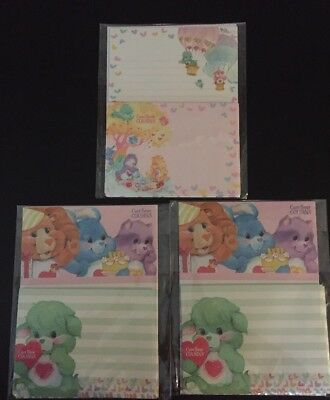 New Care Bears & Cousins Letter Set Lot Stationery Paper & Envelopes From Japan