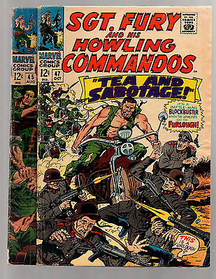 Sgt. Fury And His Howling Commandos # 45 & 47  VG- to VG