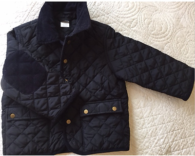 J Crew Crewcuts Navy Quilted Barn Coat Jacket 2T 2 X-Small $98.00