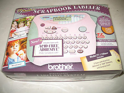 Brother P-Touch Scrapbook Labeler w/ acid free adhesive - NIB