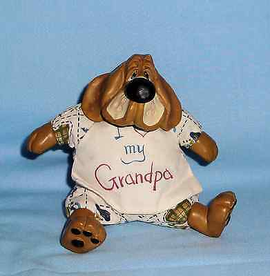 Russ Berrie Kathleen Kelly Country Folks Collection Grayson I Love Grandpa Dog