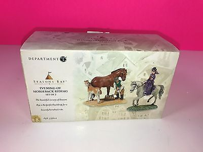 Department 56 Seasons Bay Decorative Ornament Figure Evening of Horseback Riding