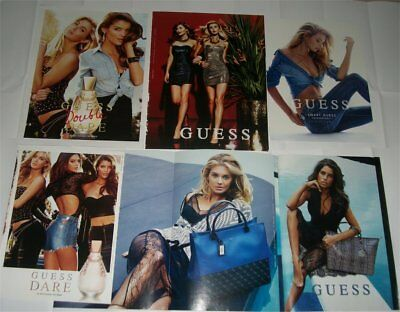 Lot of New GUESS Advertising Catalog Magazine Full Page Advertising