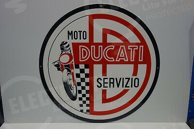 Moto Ducati Servizio Dealership Medallion Sign. Huge 30 Inches In Diameter