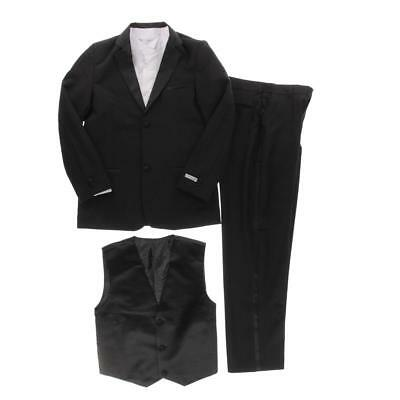 Spring Notion 2531 Boys Black 2PC Formal Two-Button Suit 20 BHFO
