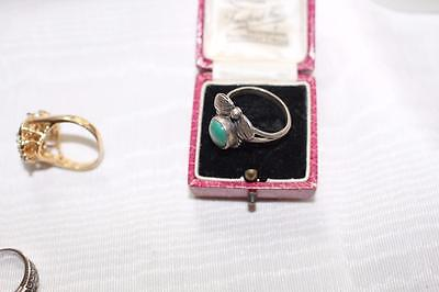 Antique Turquoise Sterling Ring