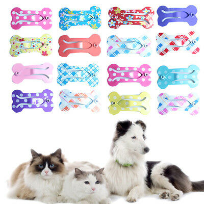 5/10 Pcs Pet Grooming Dog Cat Hair Bow Hair Clip Hairpin Topknot Accessories New