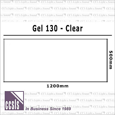 Clear Color 130 Filter Sheet - Clear