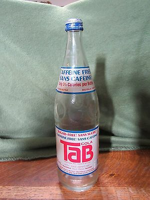 Vintage Sugar-Caffeine Free TAB Bottle-750ML-English & French Label
