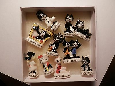 Felix The Cat French Porcelain Feves Miniatures Figures Set of 10 New condition