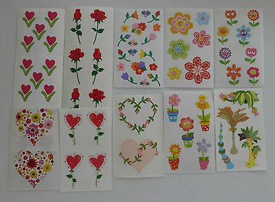 Mrs Grossman *LARGE LOT 10 STRIPS OF MISC FLOWERS* for Crafting Projects