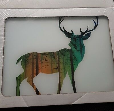 Deer wall art Glass x2 Prints BNIP