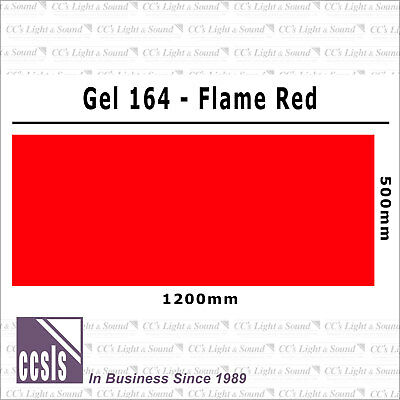 Clear Color 164 Filter Sheet - Flame Red