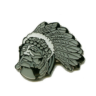 Indianer Chief Native Americans USA Metall Button Pin Nadel Anstecker 0281