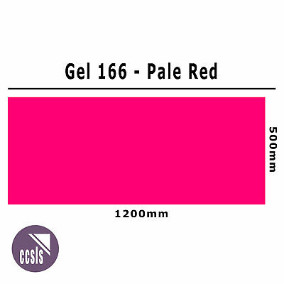 Clear Color 166 Filter Sheet - Pale Red