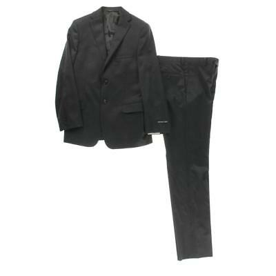 Michael Kors 5749 Boys Gray Wool Pinstripe Two-Button Suit 16R 28.5 BHFO